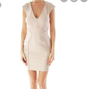 Topshop bodycon champagne colored dress - size 4